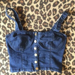 Forever 21 denim crop top